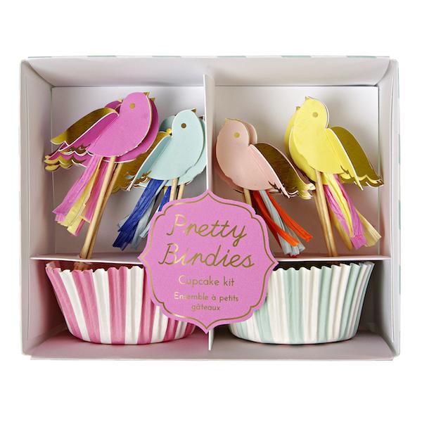 Wannawonders | Meri Meri | Cupcake set | vogels