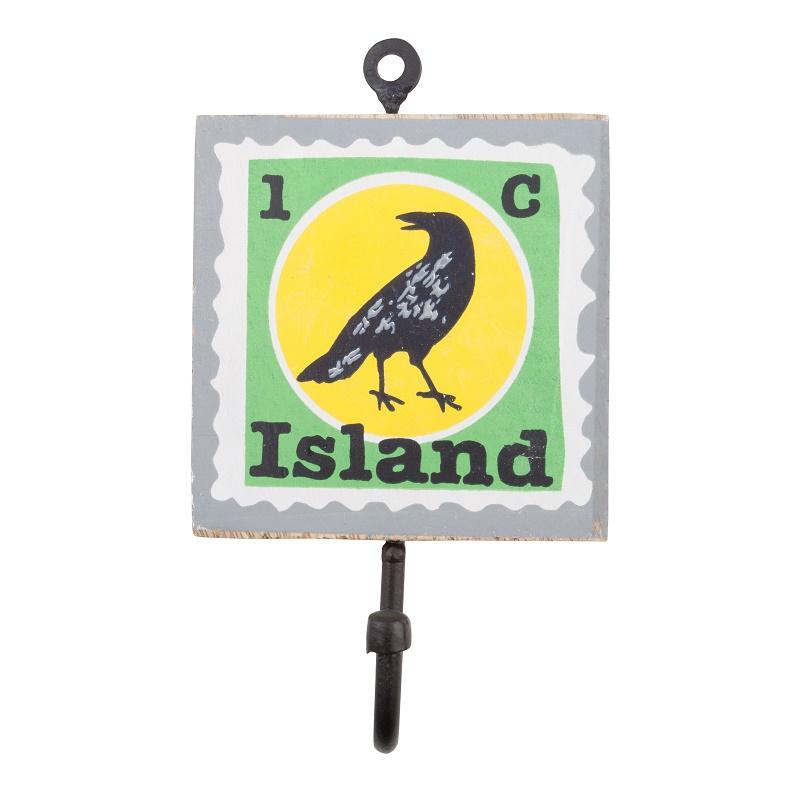 WannaWonders | Colorique | Kapstokhaakje Island vogel