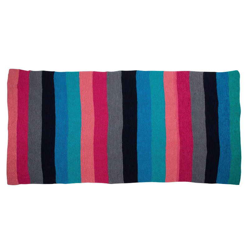 WannaWonders | Colorique | Handgebreid plaid roze