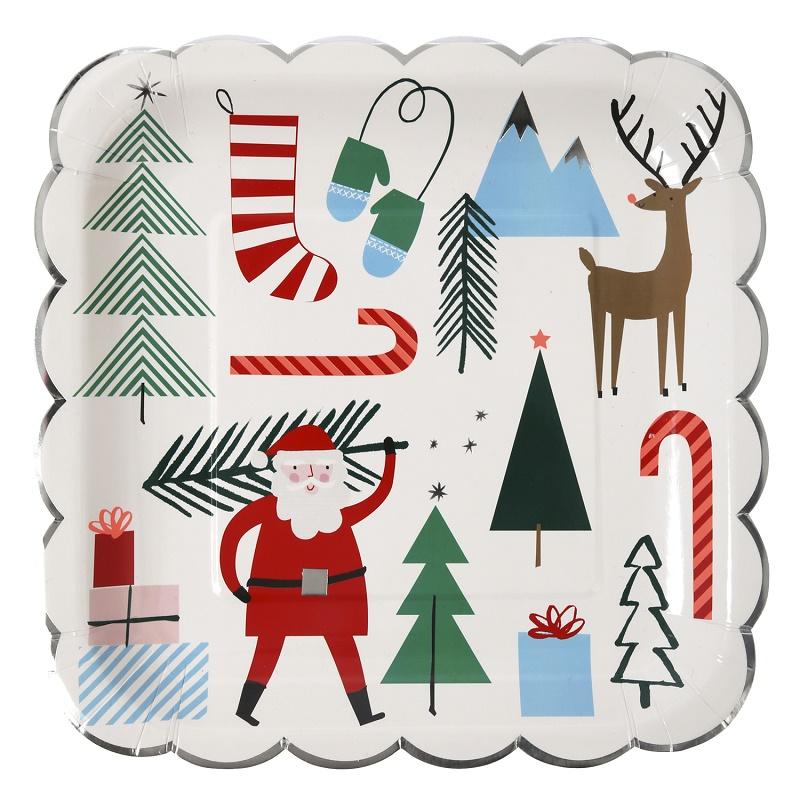 Meri Meri Kerst figuurtjes borden