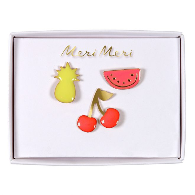 Meri Meri | emaille pins fruit