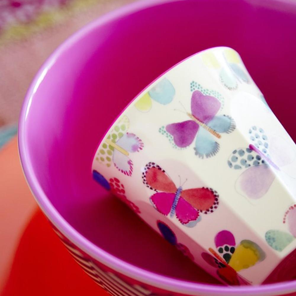 Rice   melamine beker vlinders