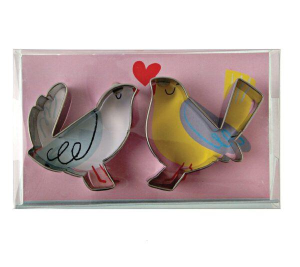 Meri Meri koekvormpjes love birds